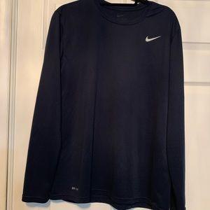 Men's Nike Navy Blue long sleeve